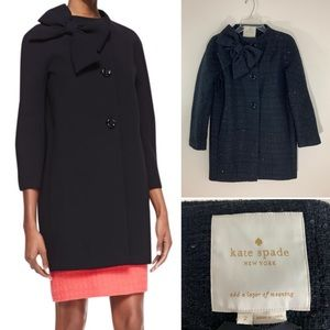 Kate Spade bow neck wool coat. Size 2